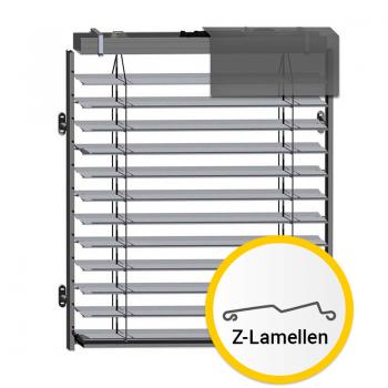 90 mm Außenjalousie mit Z-Lamellen