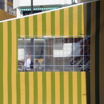 seitliches Markisentuch mit Sichtfenster