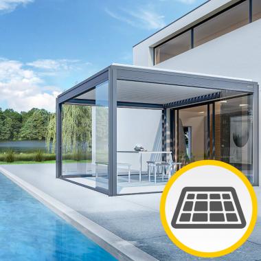 Lamellendach Sydney mit Solar