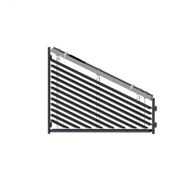 80 mm Außenjalousie asymmetrisch schienengeführt