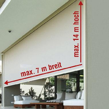 Zip-Screen 160 XXL – bis 7 m Breite und 14 m Höhe