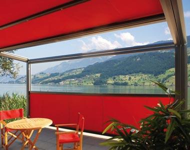 klar terrassenrollo als allwetterschutz zum werkspreis. Black Bedroom Furniture Sets. Home Design Ideas